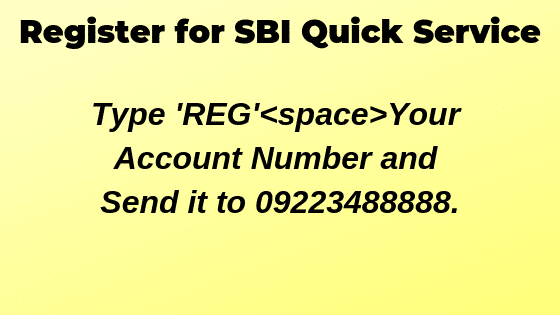 Register for SBI Mini Statement
