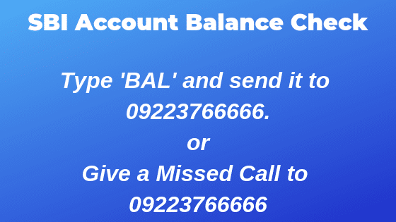 SBI Account Balance Check