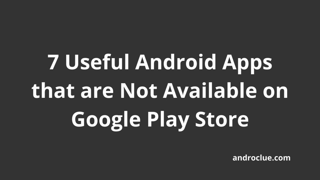 Useful Android Apps