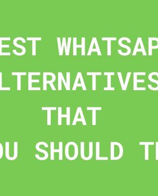 Best Whatsapp Alternatives