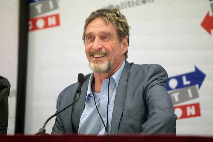 John McAfee Arrested for Evading Taxes for Four Years