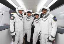 Dragon Crew Mission by NASA and SpaceX Launches Four Astronauts to Space